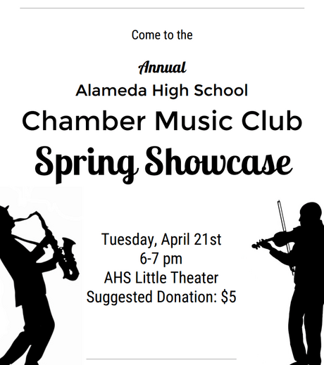 Chamber Music Club performance--April 21
